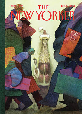 Santa Claus Painting - New Yorker December 6th, 2004 by Carter Goodrich