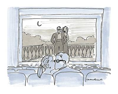 Theater Drawing - New Yorker December 7th, 1998 by Michael Crawford
