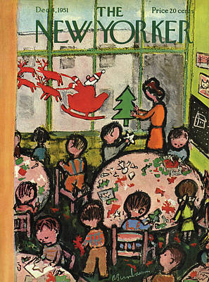Abe Birnbaum Painting - New Yorker December 8th, 1951 by Abe Birnbaum