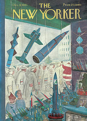 Toy Store Painting - New Yorker December 9th, 1961 by Anatol Kovarsky