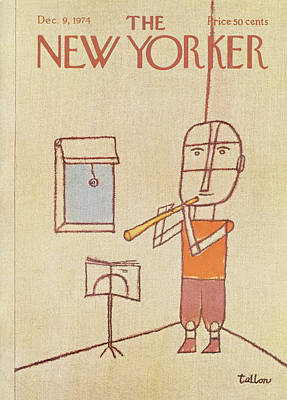 Youth Painting - New Yorker December 9th, 1974 by Robert Tallon