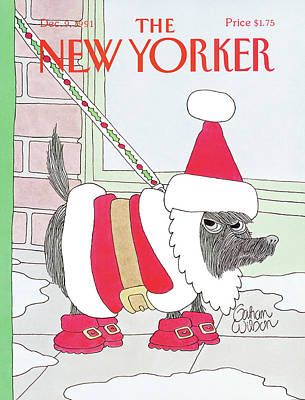Wilson Painting - New Yorker December 9th, 1991 by Gahan Wilson
