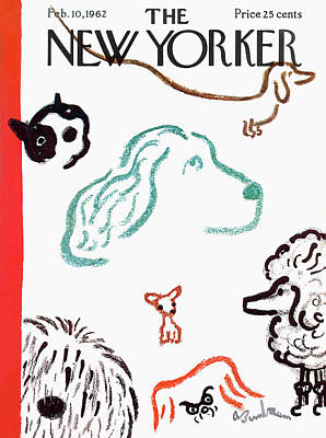 Pooch Painting - New Yorker February 10th, 1962 by Abe Birnbaum