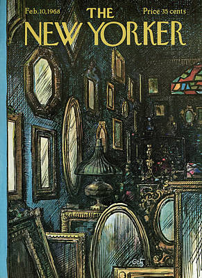 Mirror Painting - New Yorker February 10th, 1968 by Arthur Getz