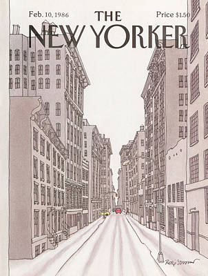 Winter Season Painting - New Yorker February 10th, 1986 by Roxie Munro