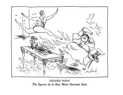 Stein Drawing - New Yorker February 10th, 1992 by Ronald Searle