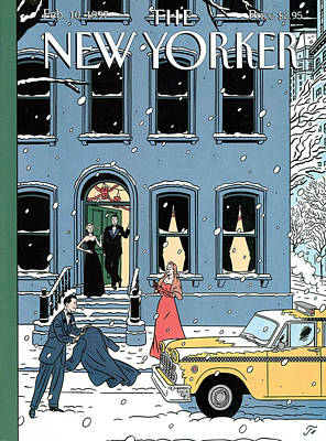 1997 Painting - New Yorker February 10th, 1997 by Jean Claude Floc'