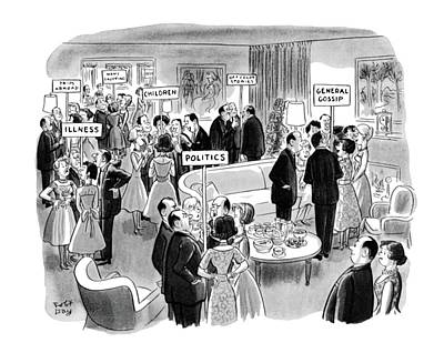 Abroad Drawing - New Yorker February 11th, 1961 by Robert J. Day