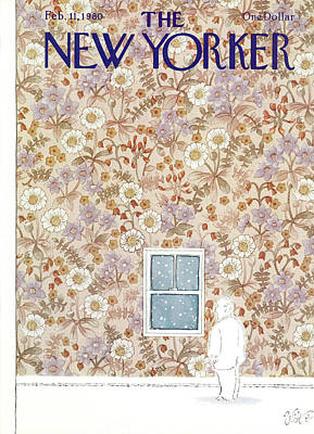 Winter Painting - New Yorker February 11th, 1980 by Michael Witte
