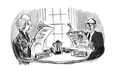 New Yorker February 11th, 1991 Art Print by Warren Miller