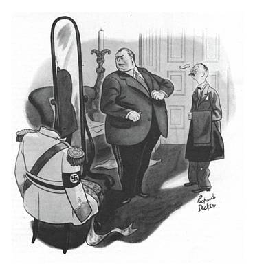 World Leader Drawing - New Yorker February 12th, 1944 by Richard Decker