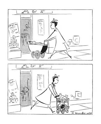 Food Stores Drawing - New Yorker February 12th, 1944 by Roberta Macdonald