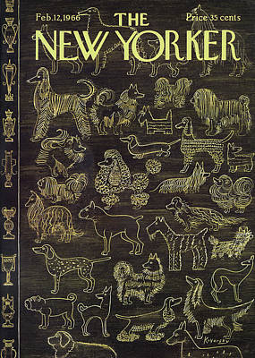Different Painting - New Yorker February 12th, 1966 by Anatol Kovarsky