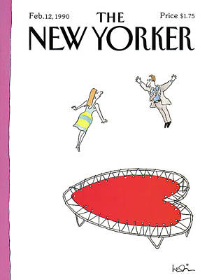 Heart Wall Art - Painting - New Yorker February 12th, 1990 by Arnie Levin