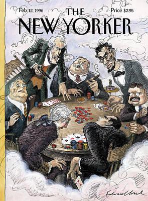 New Yorker February 12th, 1996 Art Print by Edward Sorel