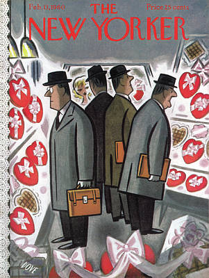 Painting - New Yorker February 13th, 1960 by Leonard Dove