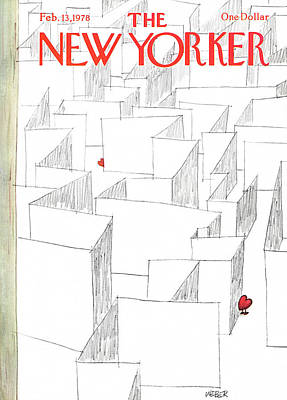Mazes Painting - New Yorker February 13th, 1978 by Robert Weber