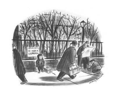 Surprise Drawing - New Yorker February 14th, 1942 by Whitney Darrow, Jr.