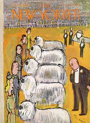 Abe Birnbaum Painting - New Yorker February 14th, 1948 by Abe Birnbaum