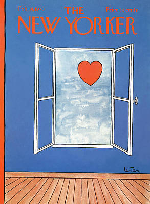 Affection Painting - New Yorker February 14th, 1970 by Pierre LeTan