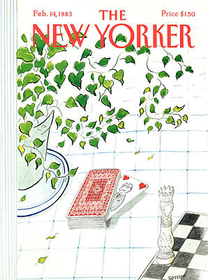Jean-jacques Sempe Painting - New Yorker February 14th, 1983 by Jean-Jacques Sempe