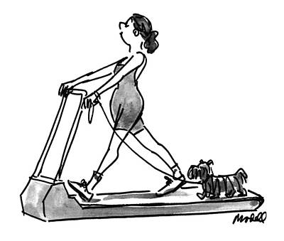 Ran Drawing - New Yorker February 14th, 1994 by Frank Modell