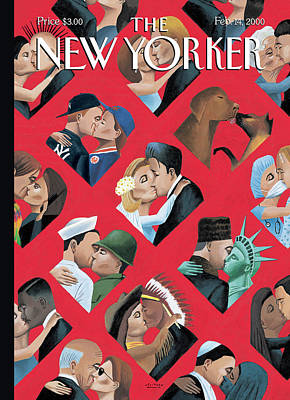 Unity Painting - New Yorker February 14th, 2000 by Mark Ulriksen