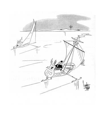 Boating Drawing - New Yorker February 15th, 1941 by Douglas Borgstedt