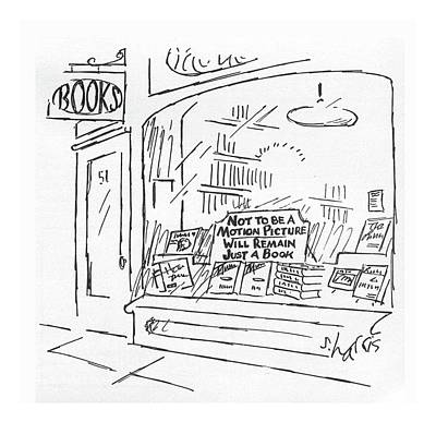 Sha Drawing - New Yorker February 15th, 1982 by Sidney Harris