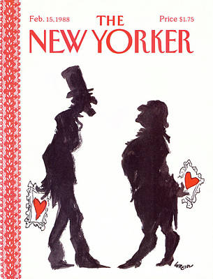 Of Abraham Lincoln Painting - New Yorker February 15th, 1988 by Lee Lorenz