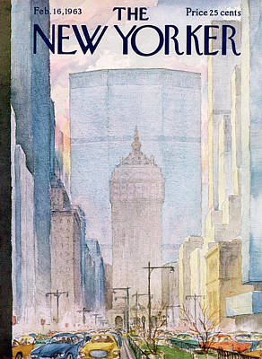 Skyline Painting - New Yorker February 16th, 1963 by Alan Dunn