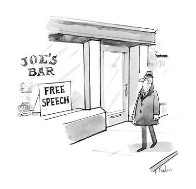 New Yorker February 16th, 1987 Art Print by Dana Fradon
