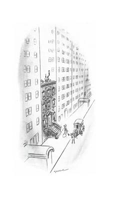 Sandwich Drawing - New Yorker February 17th, 1940 by Leonard Dove