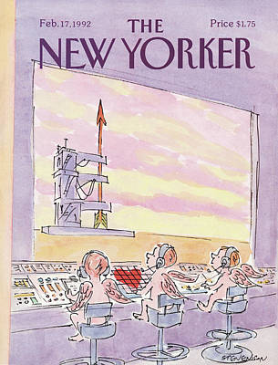 Sat Painting - New Yorker February 17th, 1992 by James Stevenson