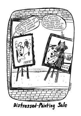 Tin Cup Drawing - New Yorker February 17th, 1992 by Stephanie Skalisk