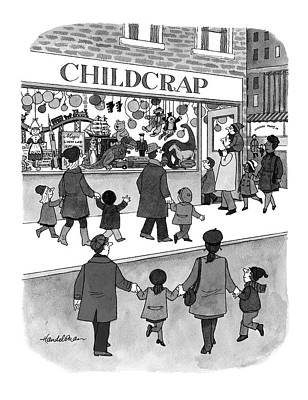 Toy Store Drawing - New Yorker February 17th, 1997 by J.B. Handelsman