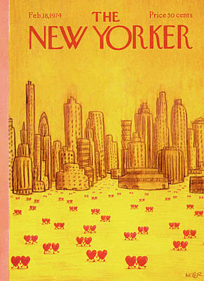 New Yorker February 18th, 1974 Art Print