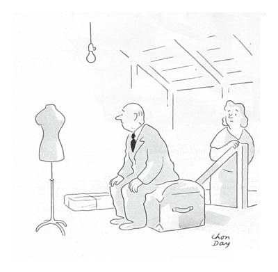 Attraction Drawing - New Yorker February 19th, 1944 by Chon Day