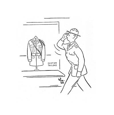 Store Fronts Drawing - New Yorker February 1st, 1941 by Ned Hilton