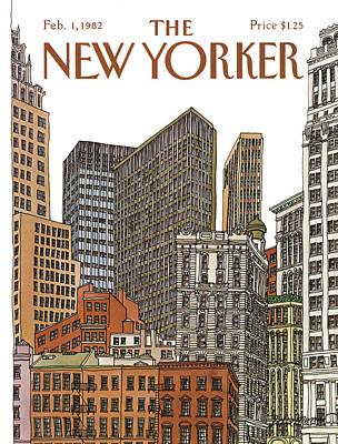 New Yorker February 1st, 1982 Art Print