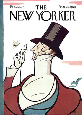 Mascot Painting - New Yorker February 21st, 1977 by Rea Irvin