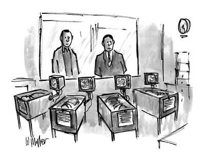 Miller Drawing - New Yorker February 21st, 1994 by Warren Miller