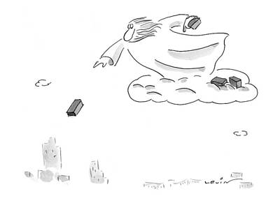 Landscape Drawing - New Yorker February 22nd, 1999 by Arnie Levin
