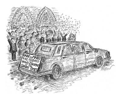 New Yorker February 22nd, 1999 Art Print by Edward Koren