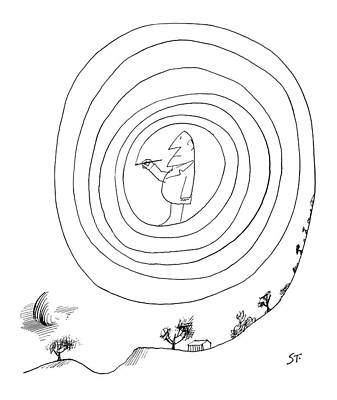 New Yorker February 23rd, 1963 Art Print by Saul Steinberg