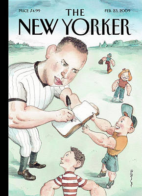 Yankees Painting - New Yorker February 23rd, 2009 by Barry Blitt