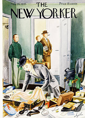 24th Painting - New Yorker February 24th, 1945 by Constantin Alajalov