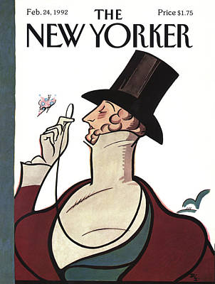 1992 Painting - New Yorker February 24th, 1992 by Rea Irvin