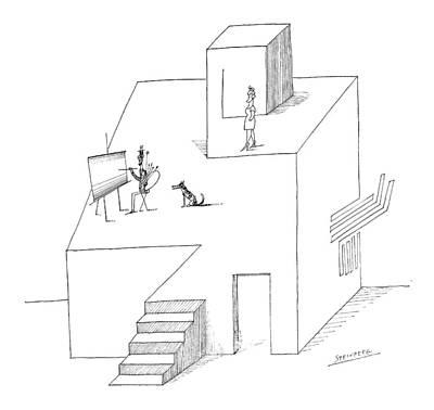 New Yorker February 25th, 1967 Art Print by Saul Steinberg