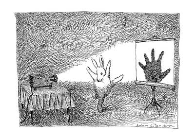 A Hand-thrown Drawing - New Yorker February 25th, 1991 by John O'Brien